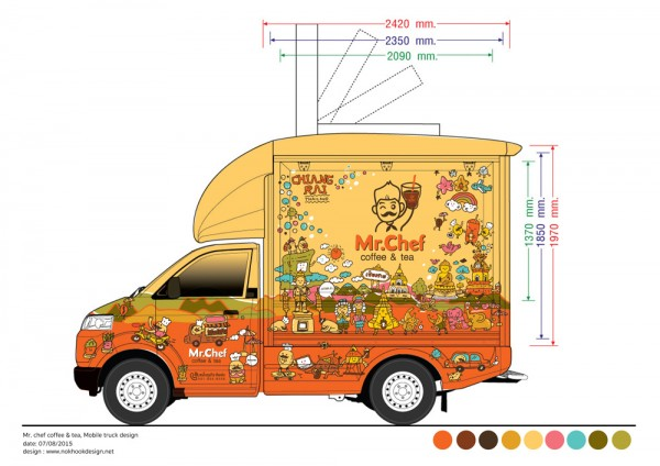 Mr Chef At Chiang Rai Food Truck Design For Thai Local