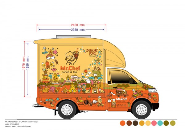 Mr Chef At Chiang Rai Food Truck Design For Thai Local Brand