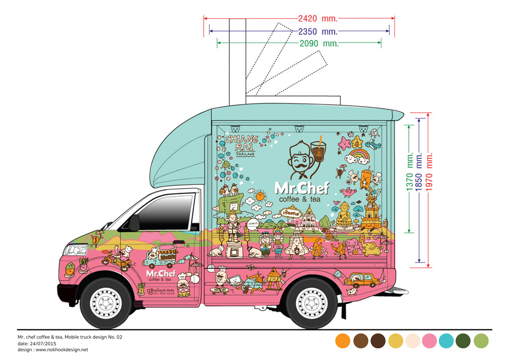 Mr chef at chiang rai food truck design for thai local for Design food truck online