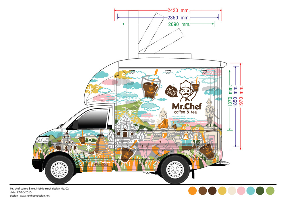 Mr chef at chiang rai food truck design for thai local for Food truck blueprint