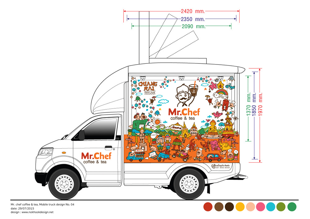 Mr chef at chiang rai food truck design for thai local for Design your food truck