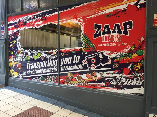 window vinyl at Zaap Leeds